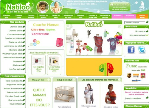 Couches lavables – Vêtements bébé – Chambres bébé… Tout est sur Natiloo.com !